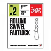 Вертлюги c застеж. LJ Pro Series ROLLING SWIVEL FASTLOCK 010 10шт.