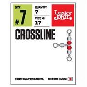 Вертлюги трехстор. с бусин. LJ Pro Series CROSLINE 007 7шт.