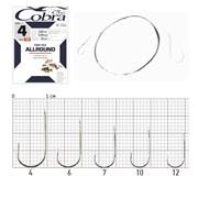 Крючки с поводком Cobra ALLROUND 70cm, 0,20mm, разм.4, 10шт.